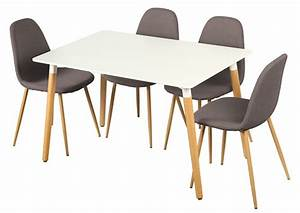 Table 4 Chaises Otis Blancchene
