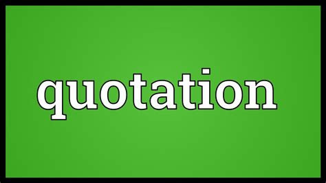quotation meaning youtube
