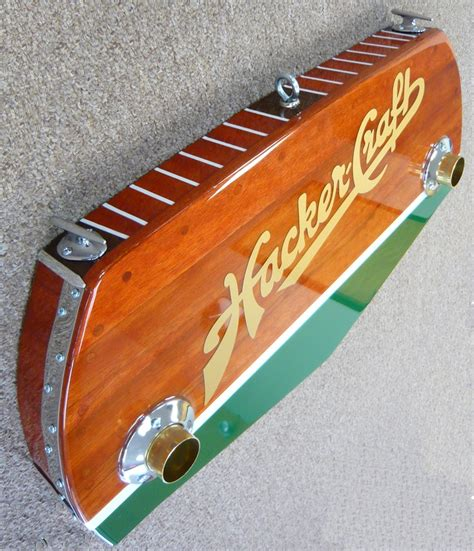 Veneer Boat Transom by Three Dimensional Signs Made To Look Like Vintage Boat