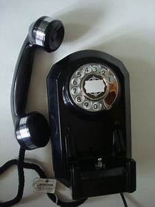 Automatic Electric Telephone Ae50 Wall Model With Chrome