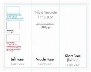 8 5 U0026quot  X 11 U0026quot  Tri Fold Brochure Template