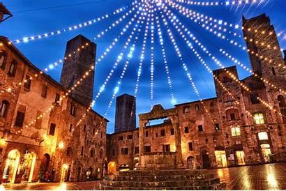 Christmas Tuscany Happy Italy Holiday Lights Merry