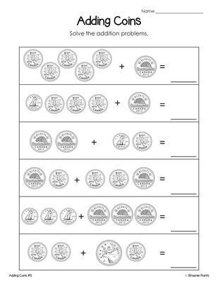 canadian money worksheets freebie from browniepoints on