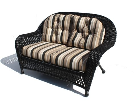 Outdoor Wicker Loveseat by Outdoor Wicker Loveseat Montauk Wicker Paradise