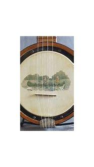 banjo uke with canoeing scene | Ukelele, Uke, Banjo