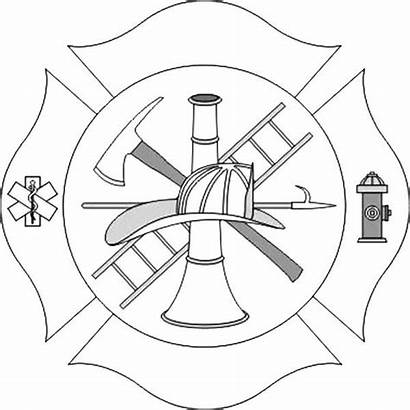 Maltese Cross Fire Department Coloring Pages Drawings