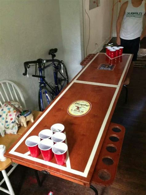 folding wooden beer pong table beer pong table designs