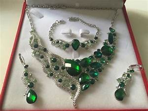 parure plaque argent mariage strass vert royal au With parure mariage strass