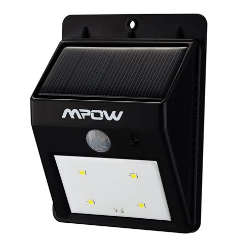 mpow 174 solar powerd wireless led security motion sensor