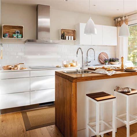 blanco  acero inoxidable el mueble cocinas blancas
