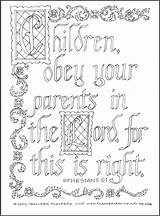 Coloring Parents Obey Print Flandersfamily Info sketch template