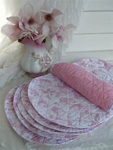 Shabby Chic Placemats Roses Pink Roses Placemats Table