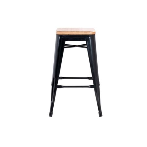 industrial timber top stool thriftway furniture