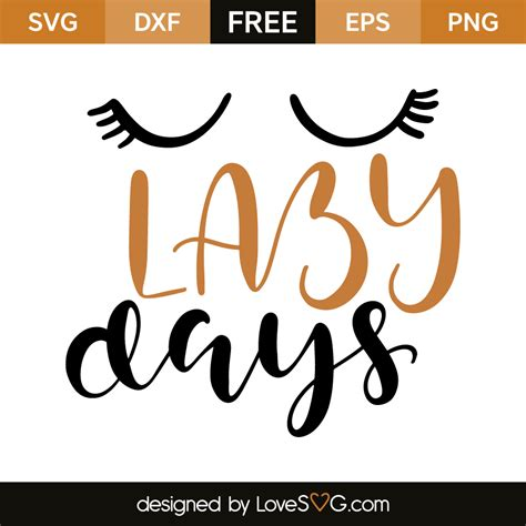 Choose from the free svg files that we offer below. Lazy days | Lovesvg.com