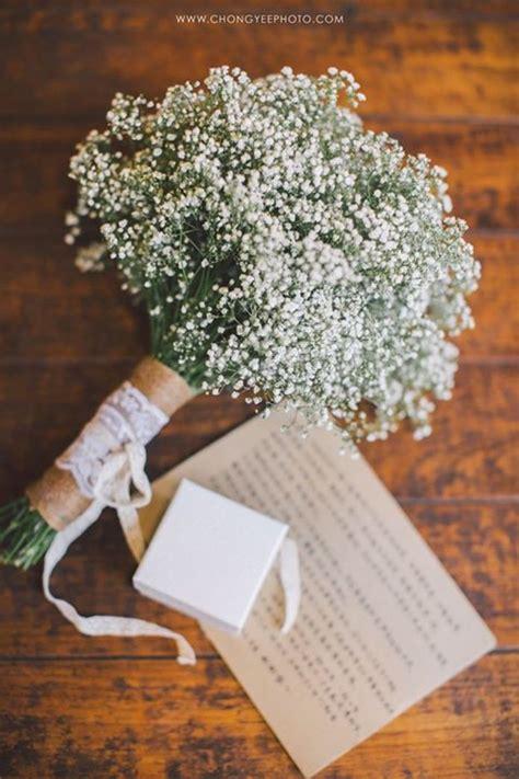 babys breath wedding bouquet ideas  pinterest