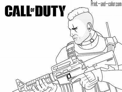 Duty Coloring Call Pages Cod Warfare Modern