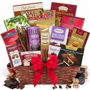 Christmas Chocolate Gift Basket by GourmetGiftBaskets.com