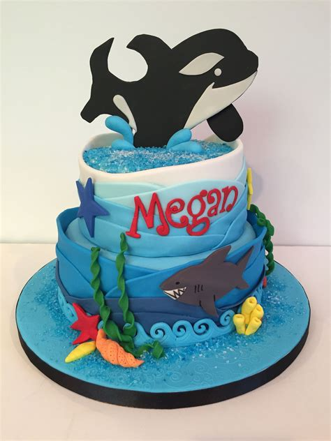 orca killer whale birthday cake party party