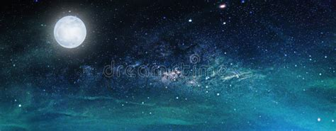 Landscape With Milky Way Galaxy Night Sky Stars