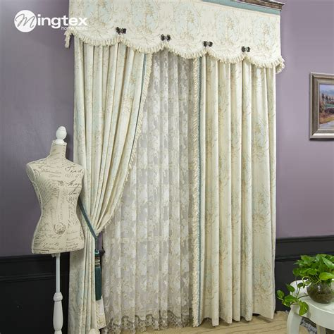 american style curtain bedroom curtain white lace curtain