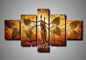 Hand painted discount abstract panel canvas art