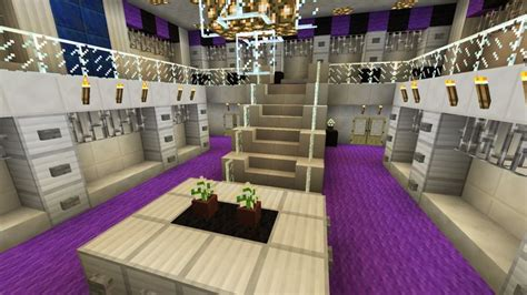 minecraft large closet walk  purple chandelier  story