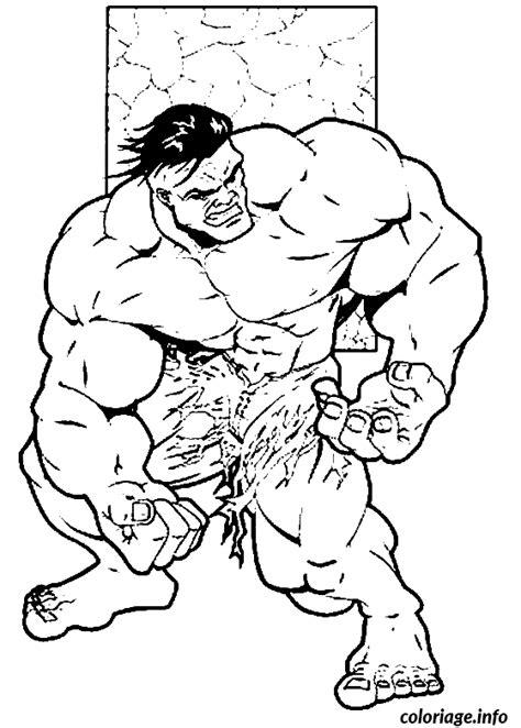 coloriage dessin de  incroyable hulk dessin