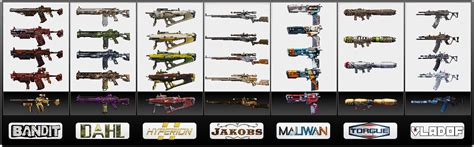 borderlands 2 color rarity material grade borderlands wiki walkthroughs weapons