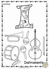 Coloring Alphabet Studio Anastasiya Musical Instrument Printable Worksheets Pages9 Pdf sketch template