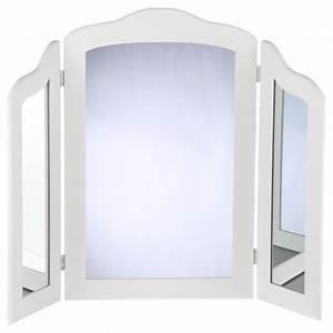 Miroir à Poser : miroir poser 3 panneaux 70cm blanc ~ Teatrodelosmanantiales.com Idées de Décoration