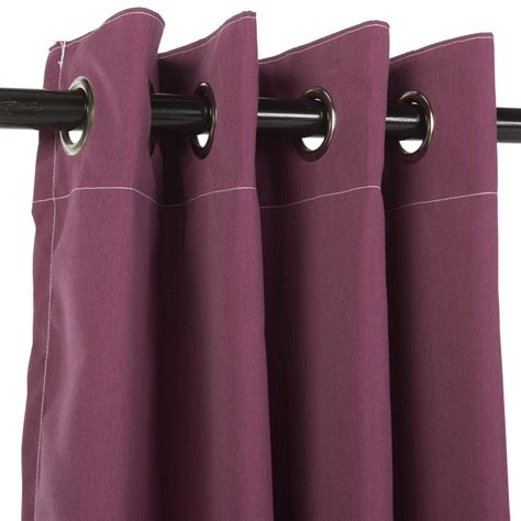 sunbrella curtains with grommets canvas iris sunbrella outdoor curtains with nickel