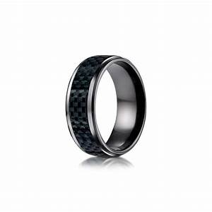 Carbon fiber black titanium wedding band desires by mikolay for Carbon fibre wedding ring