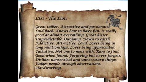 leo zodiac sign personality traits youtube