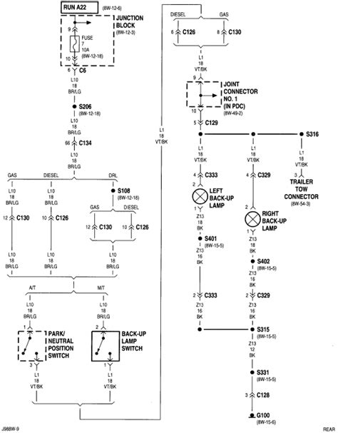 1998 Dodge Up Wiring Diagram by Back Up Lights Not Working 1998 Ram 1500