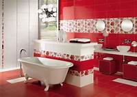 red bathroom ideas 39 Cool And Bold Red Bathroom Design Ideas - DigsDigs