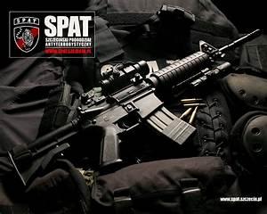 Download wallpaper: M-16 carbine, automatic rifle ...