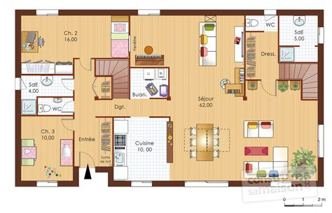 plan de chambre avec dressing et salle de bain maison bois 1 dé du plan de maison bois 1 faire