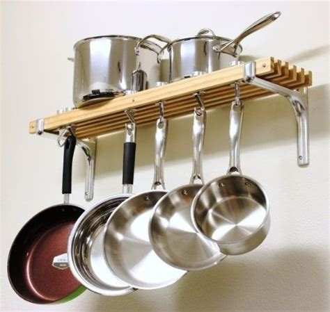 Kitchen Hooks For Pot Holders wall mount pot and pan rack kitchen organizer hanging