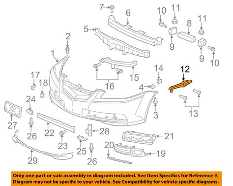 Acura Honda Oem Front Bumper Spacer Support