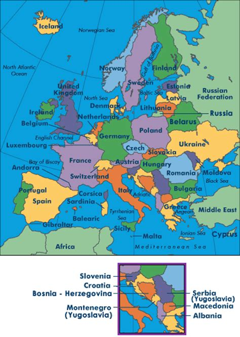Clickable map of Europe