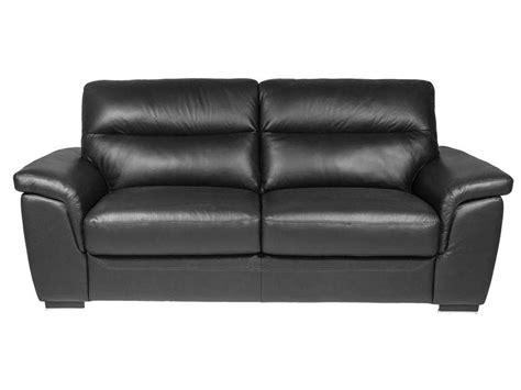 canapé 2 places noir canapé fixe 2 places en cuir coloris noir vente