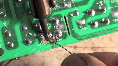 Solder Repairs Hvac Circuit Boards Youtube