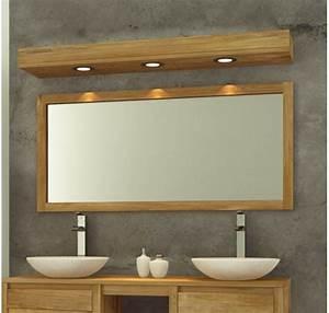 Beautiful miroir salle de bain bois ideas awesome for Mobilier salle de bain teck