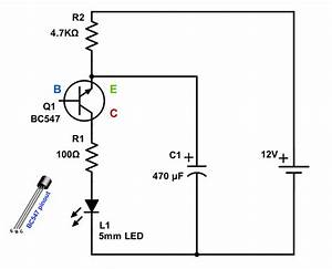 blinking led with single transistor With singleledcircuitjpg