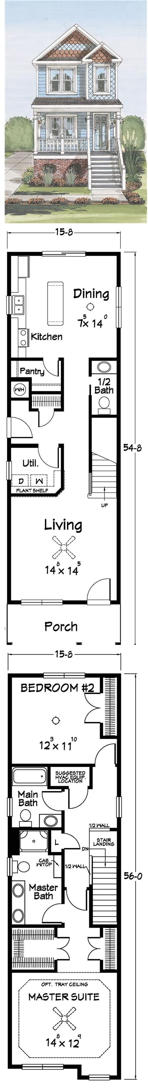 narrow house plans best ideas about narrow lot house plans narrow house and
