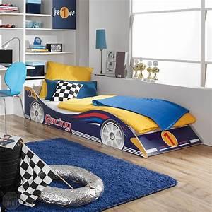 Bett Für Kinderzimmer : kinderbett racing autobett bett f r kinderzimmer in blau 90x200 cm ebay ~ Frokenaadalensverden.com Haus und Dekorationen