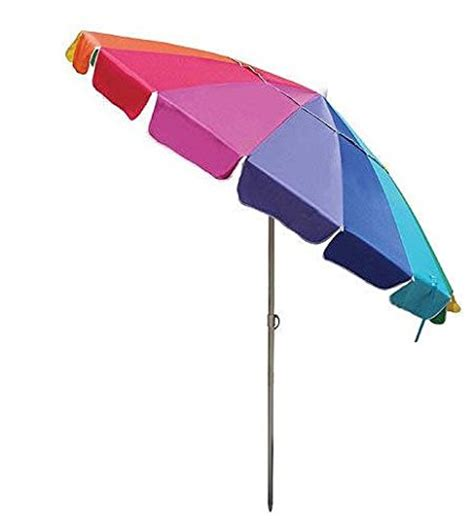 8 ft rainbow multi color patio umbrella with wind
