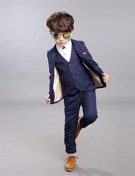 fashion boys suits  weddings attire boys button fly