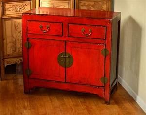 Meuble Chinois Rouge : meuble chinois patin rouge et noir for home pinterest ~ Teatrodelosmanantiales.com Idées de Décoration