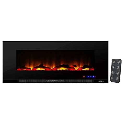Livingston Ultra slim LED Wall Mount Electric Fireplace by
